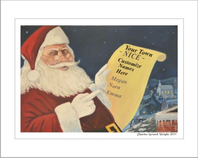Santa artwork Nice list